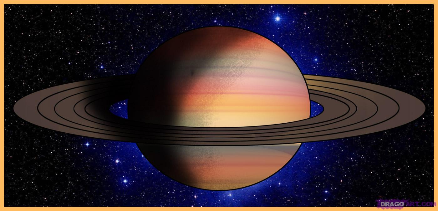 Drawn planets saturn How Places to  Step