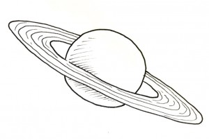 Drawn planets saturn Draw Saturn Shoo Easy –