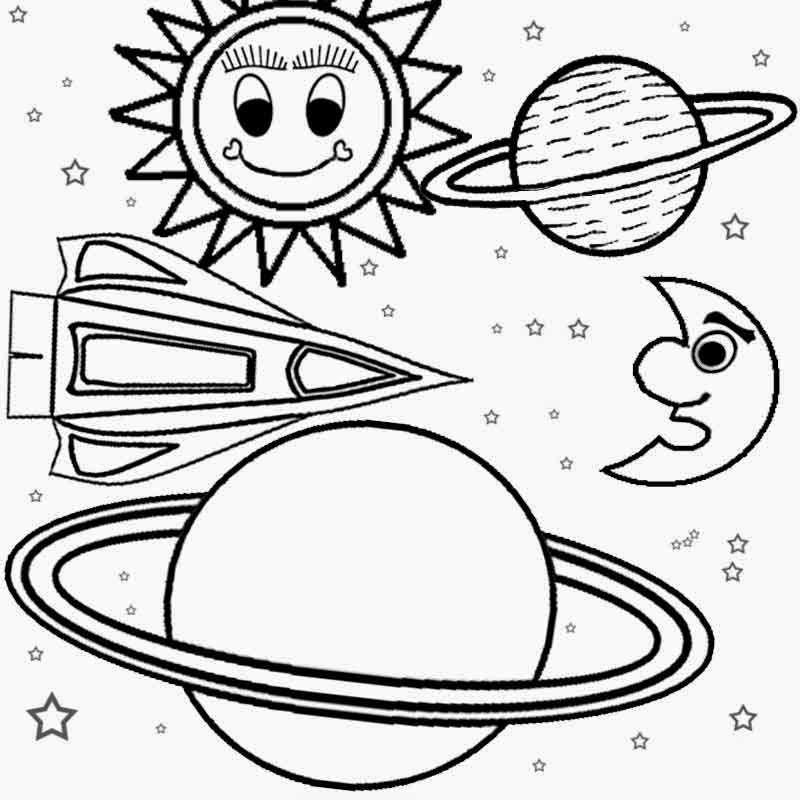 Drawn planets ship line Printable print ideas Pages Coloring