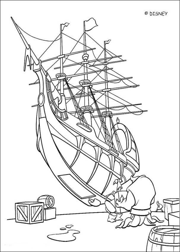 Drawn planets ship line Hellokids coloring com Treasure page