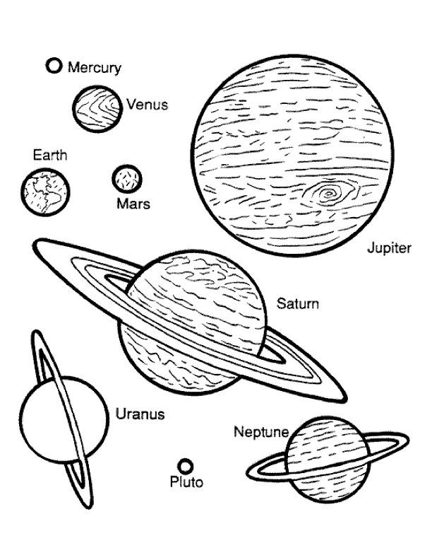 Drawn planets simple #3