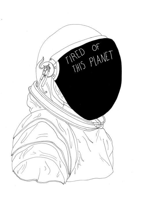 Drawn planets sketch Traitspourtraits Tumblr astronaut draw