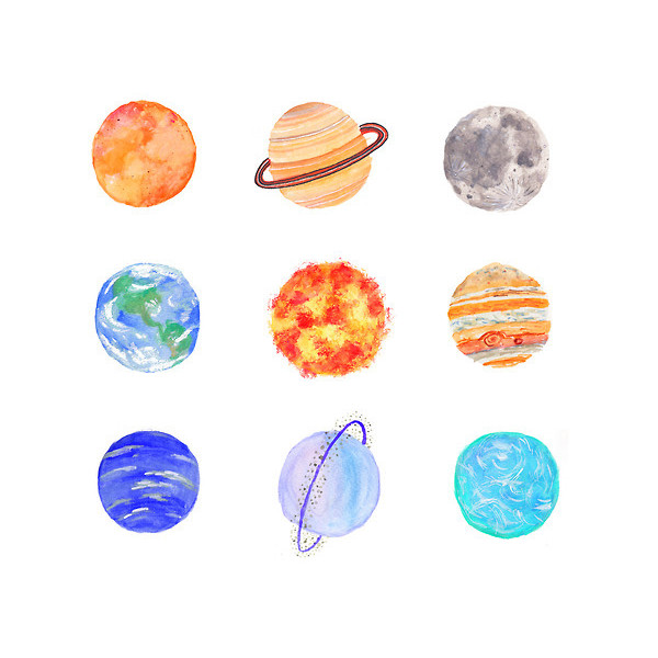 Drawn planets sketch Polyvore drawings Tumblr on liked