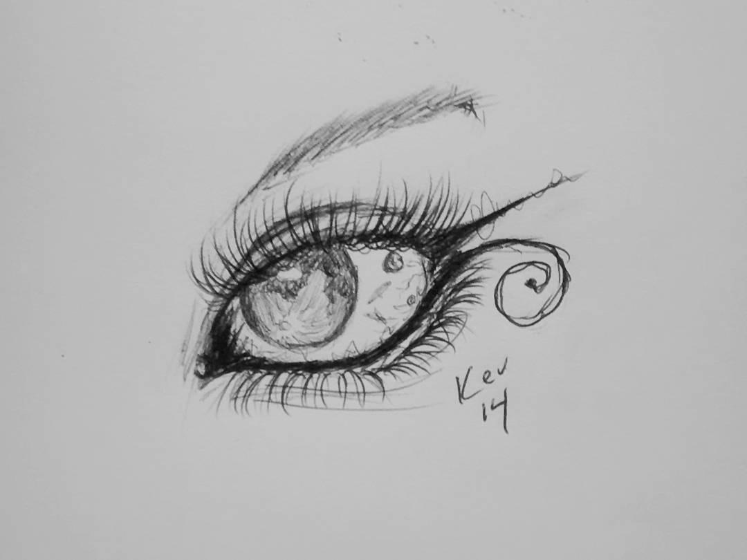 Drawn planets sketch Tumblr #inktober of com eye
