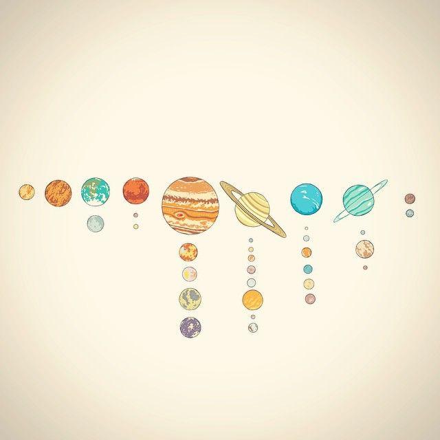 Drawn planets solar system  tumblr Search Google Tattoos