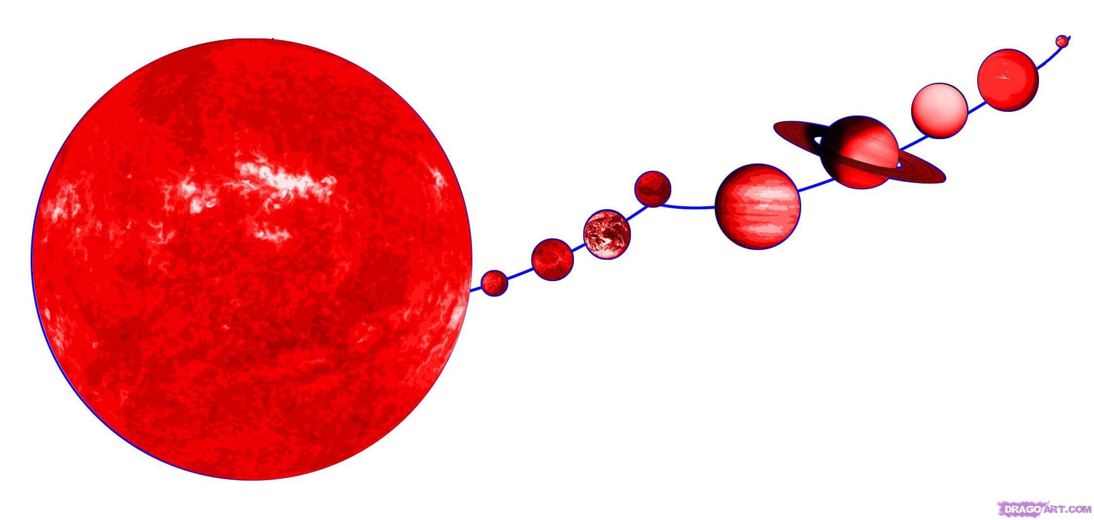 Drawn planets solar system  the system solar step