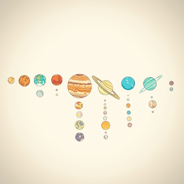 Drawn planets sun system System names icons Search tumblr