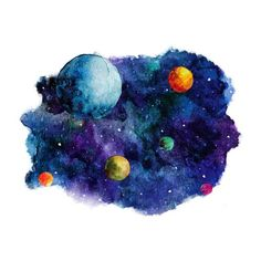 Drawn planets transparent Hecha From In land Que