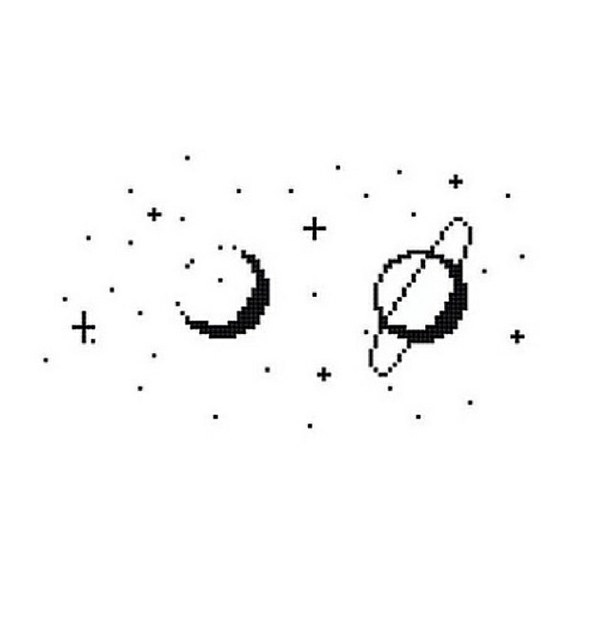 Drawn star transparent pixel Moon tumblr transparent space pixels