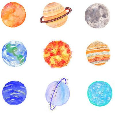 Drawn planets transparent > on Best Gallery ideas