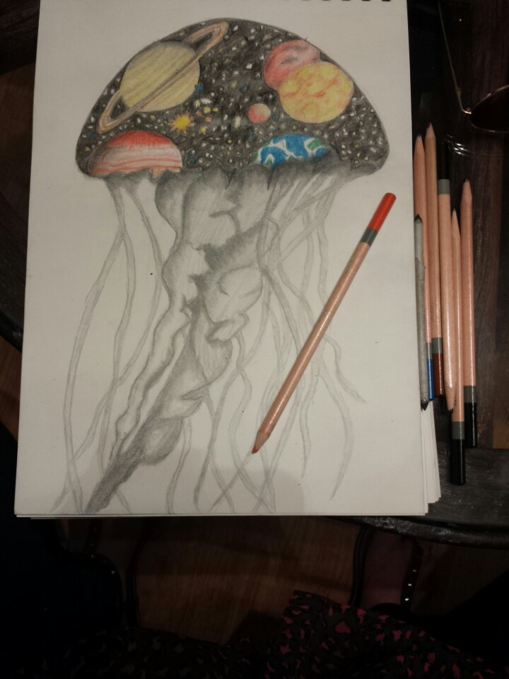 Drawn planets trippy  #stars Done and Madison