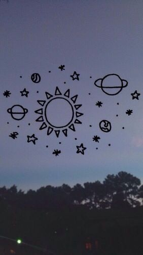 Drawn planets tumblr backgrounds Wallpapers Pinterest best 74 images