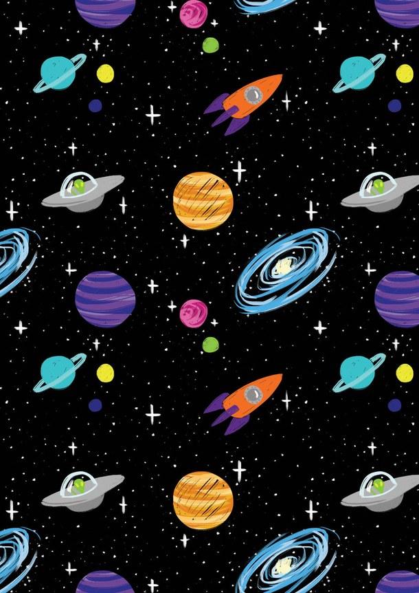 Drawn planets tumblr backgrounds Creatividad pattern  galaxy creatividad
