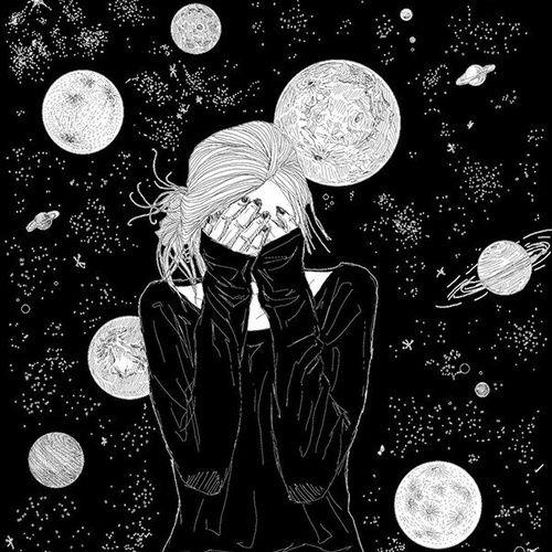 Drawn planets universe Image black Best 25+ ideas