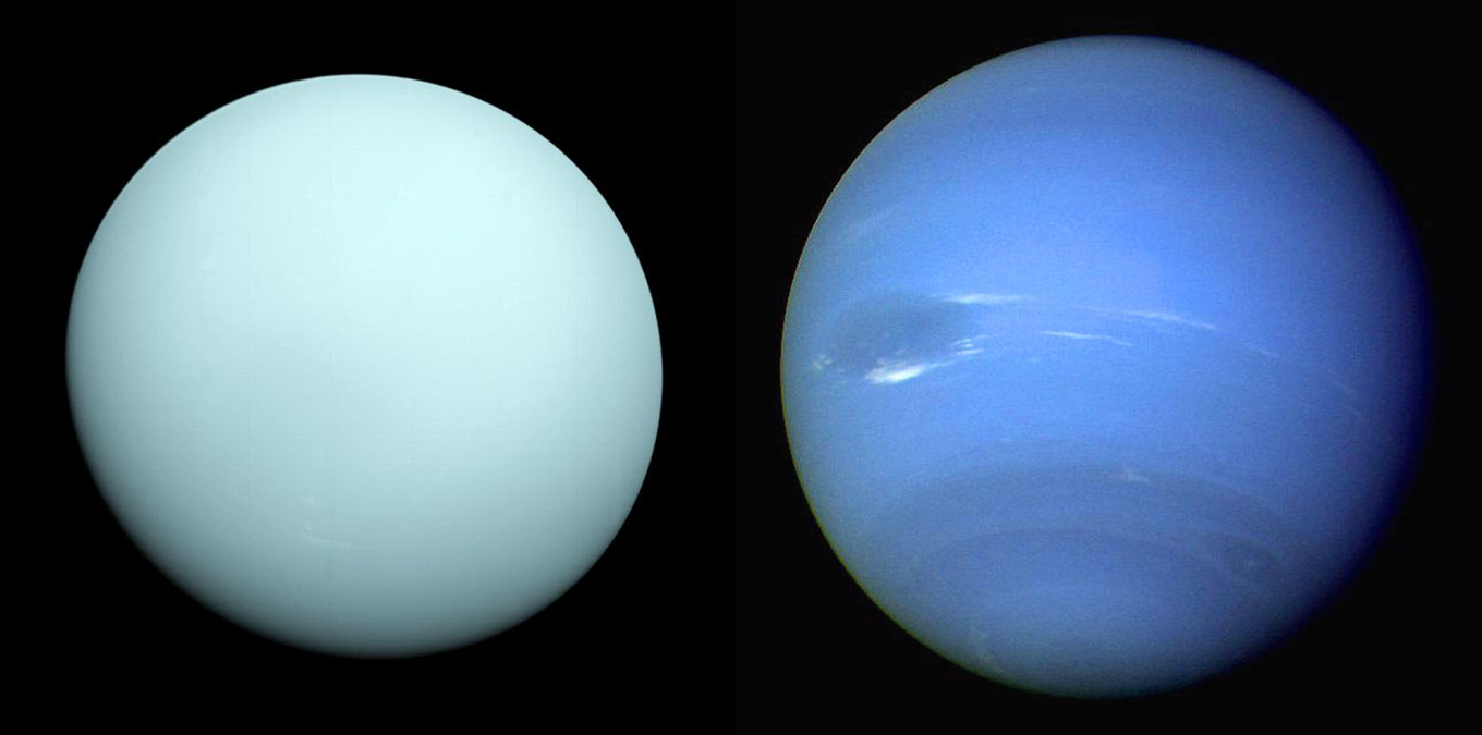 Drawn planets uranus planet And ice which Missions System's