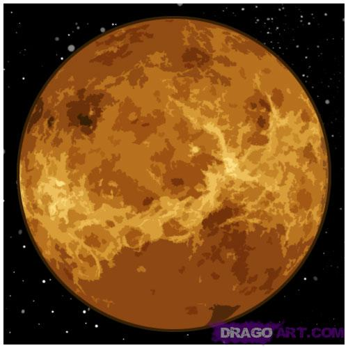 Drawn planets venus Draw Step Outer Step How