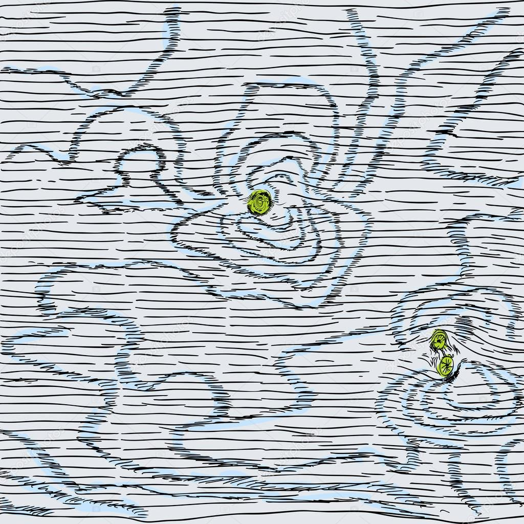 Drawn planks Goldenshrimp — Hand © planks