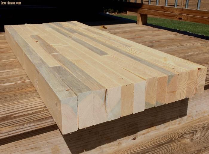 Drawn planks industrial Thyme from Industrial desk Custom