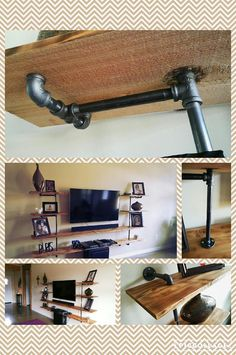 Drawn planks industrial Shelving cedar Custom from assembled