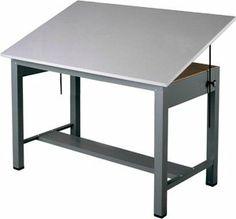 Drawn planks mayline 38 Four Mayline Drawer Table