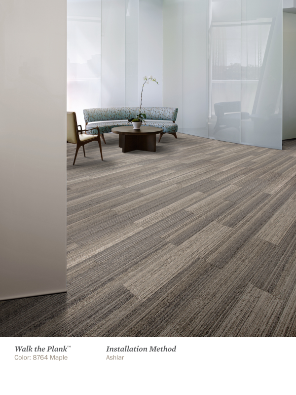 Drawn planks office Skinny flooring mimic tiles pattern