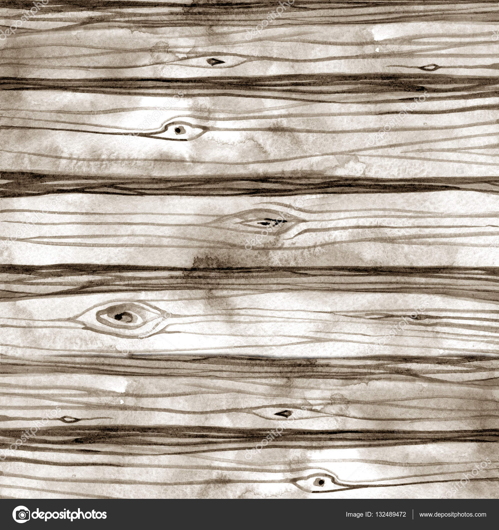 Drawn planks watercolor Illustration — background drawn texture