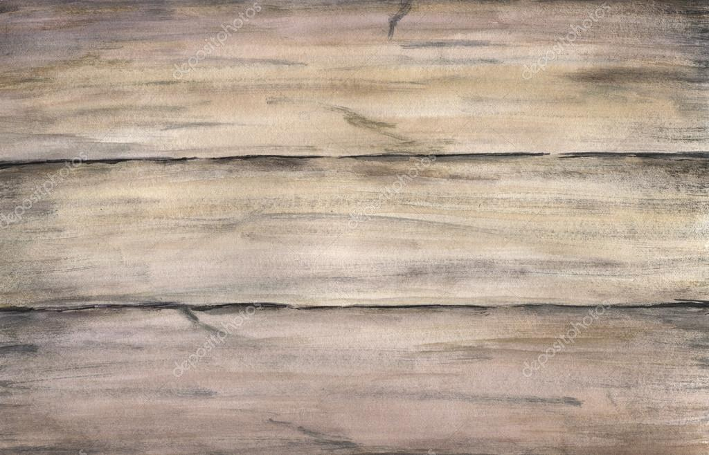 Drawn planks watercolor Old Watercolor hand  Wood