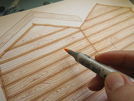 Drawn planks wooden Plank for planks Draw effect