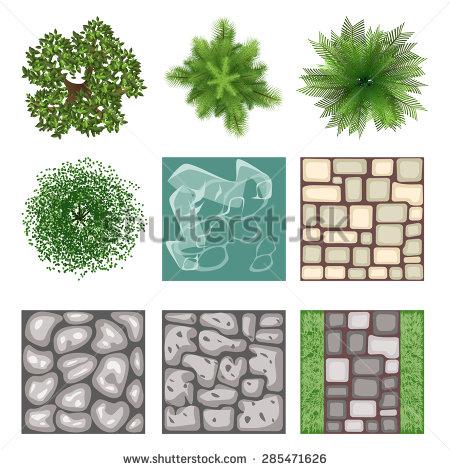 Drawn plant element design texture View Textured view vector plant