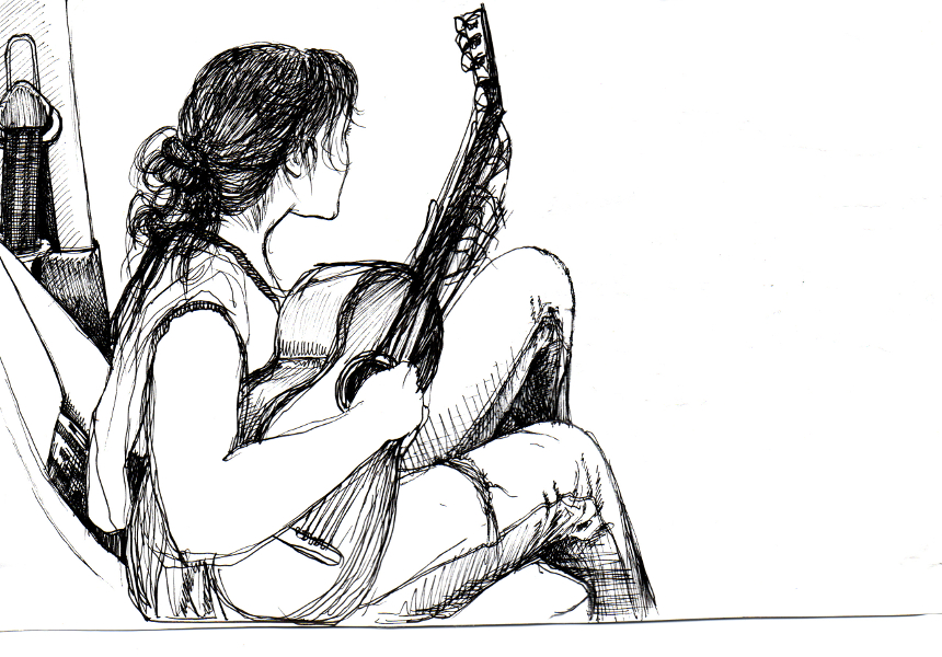 Drawn playing Mina fineliner A Photo the