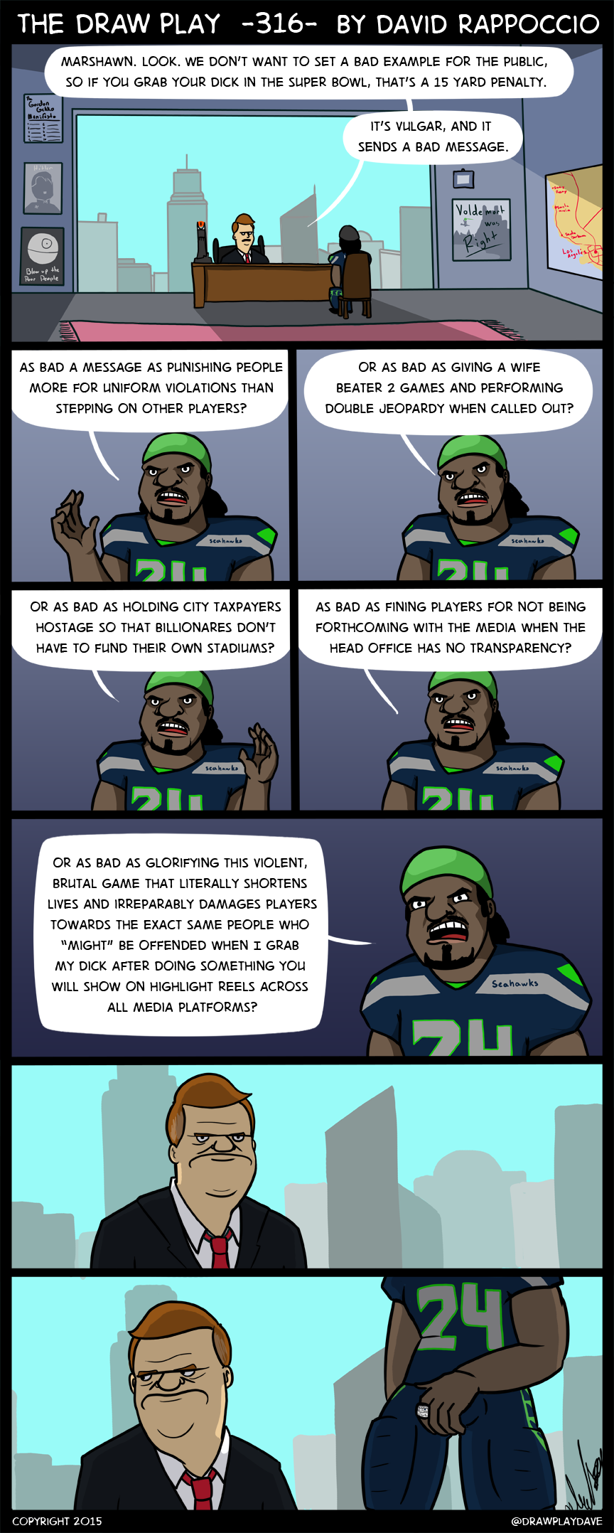 Drawn playing dave rappoccio Vs Archives NFL The Lynch