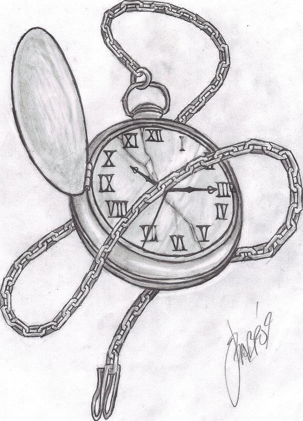 Drawn pocket watch #13