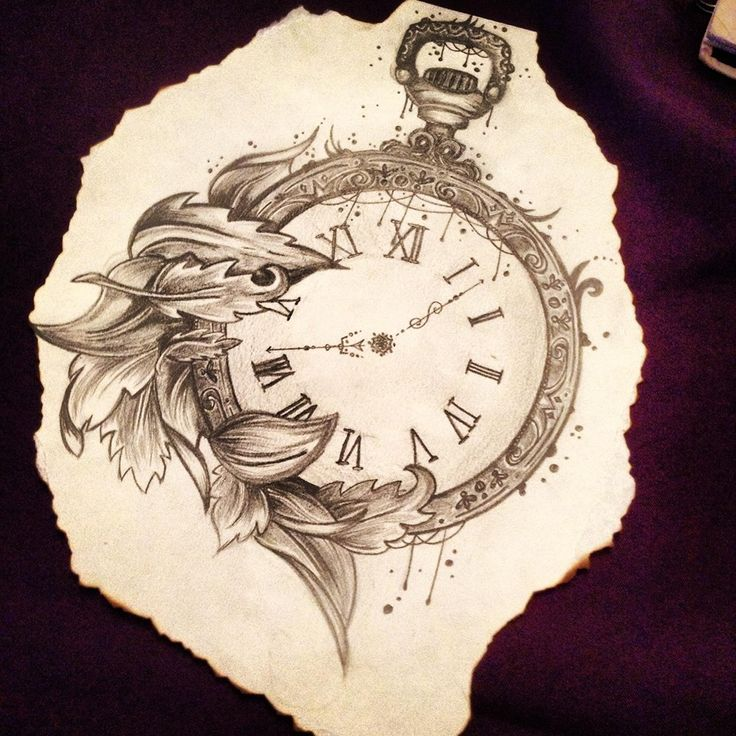 Drawn pocket watch #11