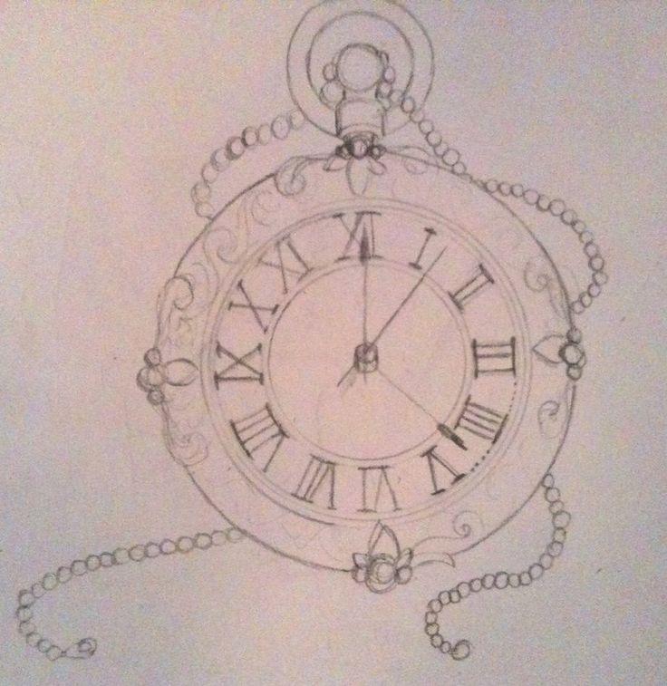 Drawn pocket watch #14