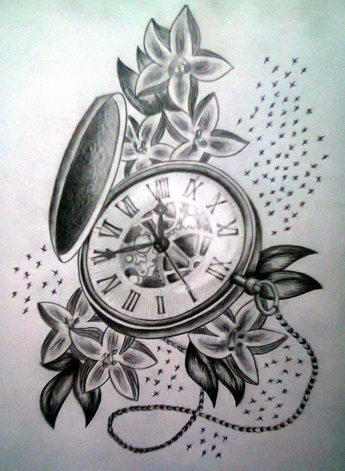 Drawn pocket watch #12