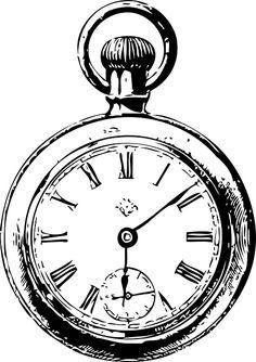 Drawn pocket watch #4