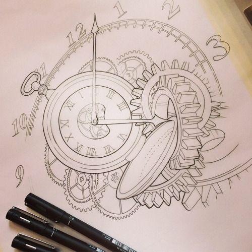 Drawn pocket watch #3