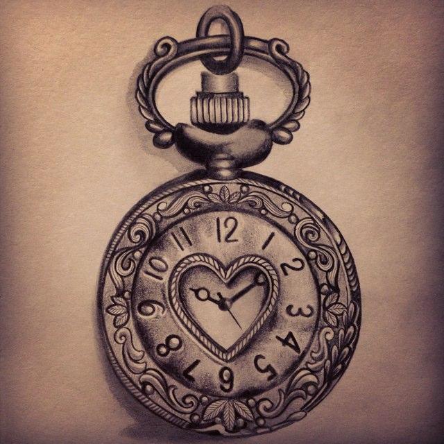 Drawn pocket watch #5