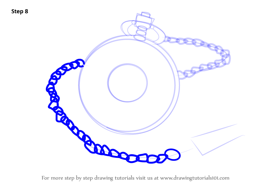 Pocket Watch clipart chain drawing Draw How by (Everyday Pocket