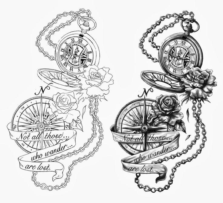 Pocket Watch clipart chain sketch Catcher Tattoo this on Watch