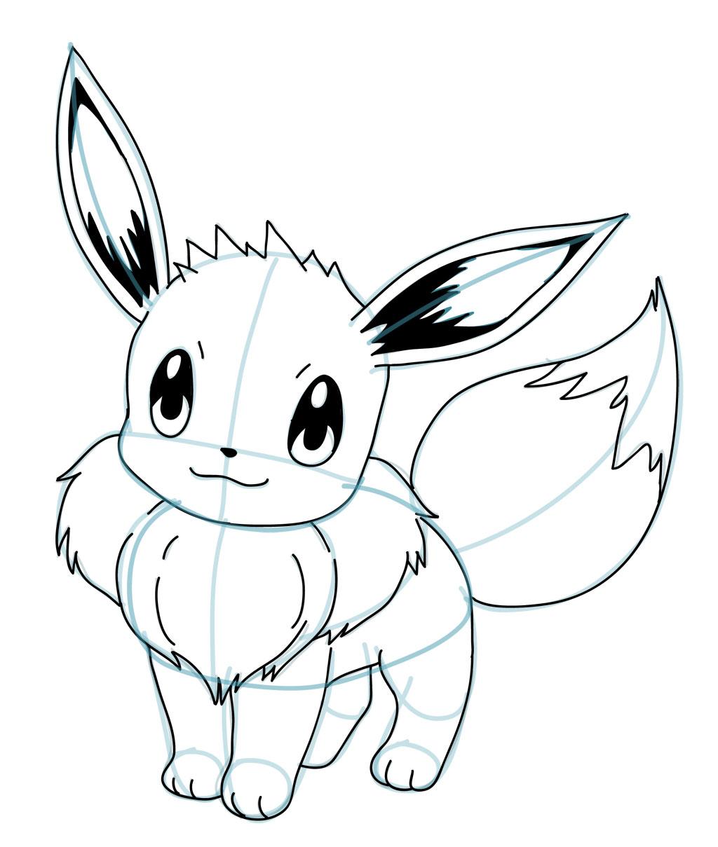 Drawn amd pokemon Pokémon Eevee and Pokemon