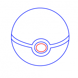 Drawn pokeball 3d drawing By  Characters a to