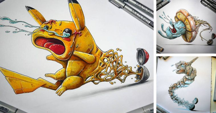 Drawn pokeball animated Their different drawing And Enter