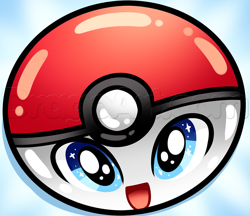 Drawn pokeball cartoon Pokeball to  by a