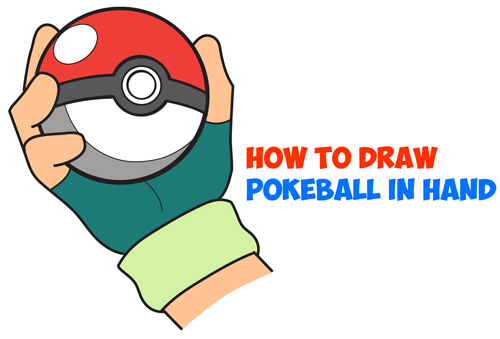 Drawn pokeball cartoon  Drawing Pokemon Pokeball to