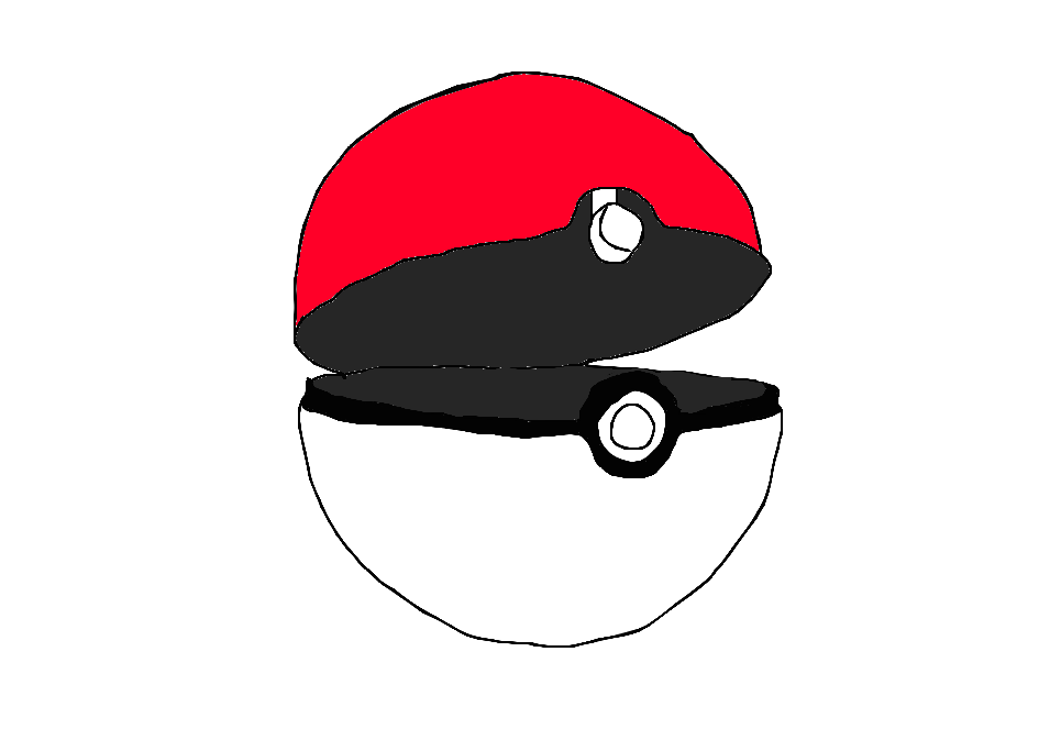 Drawn pokeball cartoon Pokeball DeviantArt Open AmaneYara by