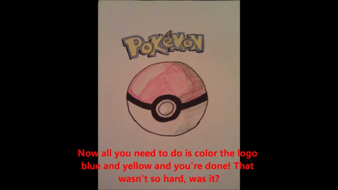 Drawn pokeball cartoon Draw to Logo Pokeball How