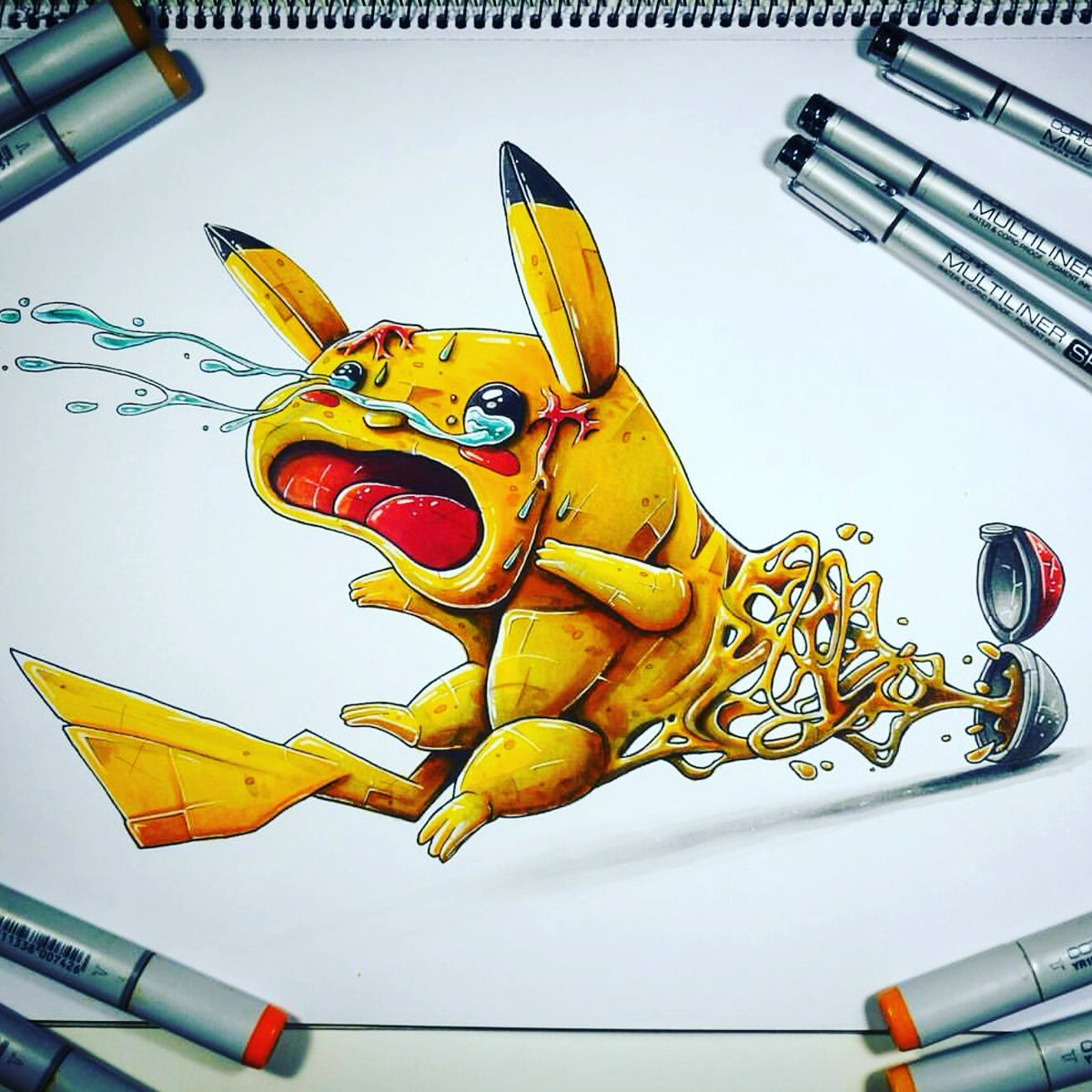 Drawn pokeball cartoon #illustrator Art