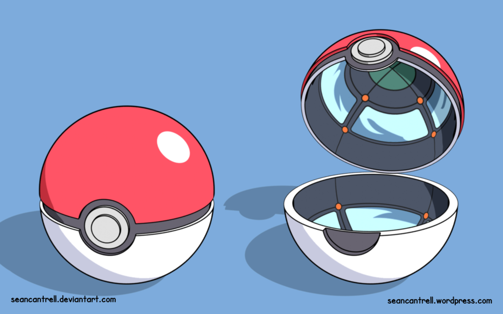 Drawn pokeball cartoon Inside mirrors Pokeball is