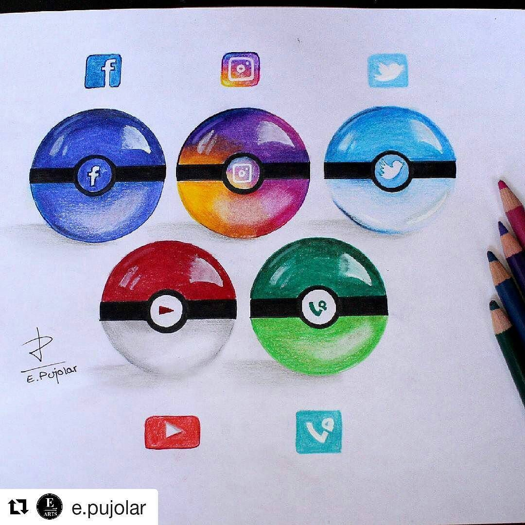 Drawn pokeball doodle #Draw Social #pokeball Media #